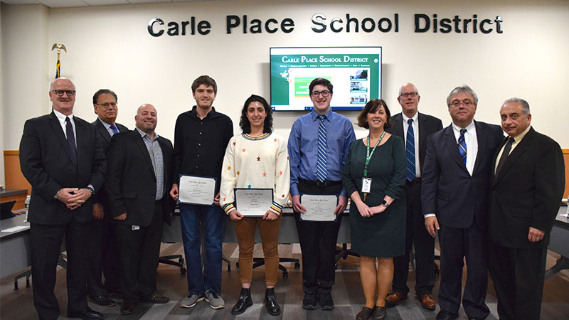 Board of Education Honors National Merit Scholars