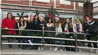 Students, Staff Bring Cheer to Hospitalized Youngsters photo